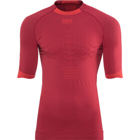 X-Bionic The Trick G2 Maglia da corsa a maniche corte Uomo, namib red/sunset orange